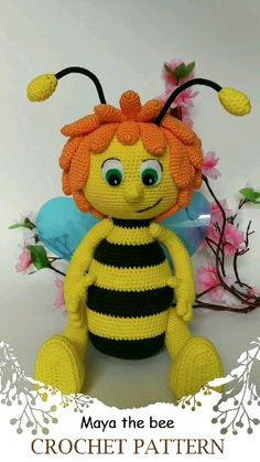 Maya the bee crochet pattern pdf English. Maya the Bee tutorial PDF file contains: *Detailed step-by-step instructions on 20 pages *Over 40 pictures of the process *The height of the finished toy is about 32 centimeters, if materials listed are use Minion Crochet Patterns, Amigurumi Patterns, Knitting Patterns, Crochet Bunny, Crochet Dolls, Popular Crochet, Boyfriend Crafts, Stuffed Toys Patterns, Handmade Toys