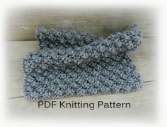 PDF Knitting Pattern Easy knit blanket Gray by GabriCollection