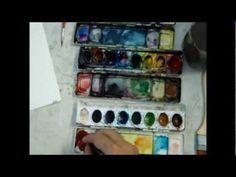PINTANDO CON ACUARELAS CLASE Nº1 PAISAJE - YouTube