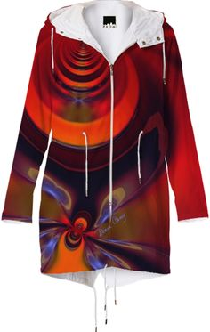 #Amber #Goddess, #Abstract #Orange and Gold #Passion Raincoat from Print All Over Me #raincoat #printalloverme