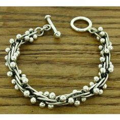 Ball and Link Silver Bracelet