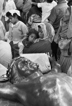 Magnum Photos - Henri Cartier-Bresson // MEXICO. Los Remedios near Mexico City. Pilgrims. 1963.