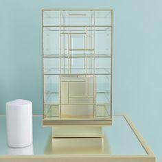 "House of Hampton Glass Metal Hurricane Size: Large (20"" H x 10.5"" D)"