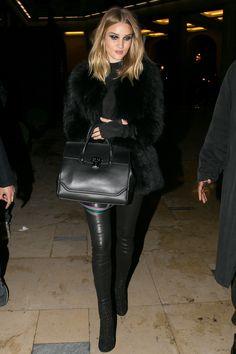 Versace show, Paris - January 24 2016 Rosie Huntington-Whiteley.