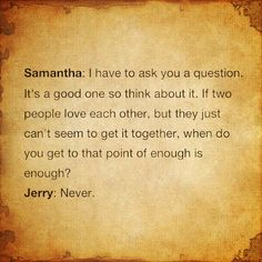 """quote from """"the mexican"""".  if two people love each other ...."""