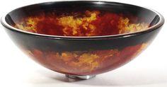 Kraus GV-450 Onyx Glass Vessel Sink contemporary bathroom sinks - http://www.expressdecor.com/kraus-gv-450-onyx-glass-vessel-sink.html