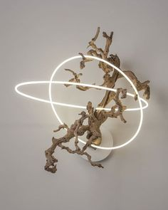 From Voltz Clarke, Lisa Schulte, Untitled Wood Series Neon Tubing and Driftwood, 40 × 34 × 24 in Light Art, Light Installation, Neon Lighting, Wood Sculpture, Wood Art, Contemporary Art, Artsy, Artwork, Inspiration