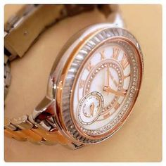 Michael Kors Madelyn Mother of Pearl Dial 2-Tone Rose Gold Ladies Watch MK6288