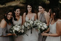 Cortney + Anthony: October 7, 2017 || White and green bouquets for outdoor garden wedding NJ