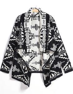 Shop Black Long Sleeve Print Loose Cardigan online. Sheinside offers Black Long Sleeve Print Loose Cardigan & more to fit your fashionable needs. Free Shipping Worldwide!