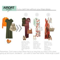 travel outfits: maxi dresses by eternal-voyager, via Polyvore