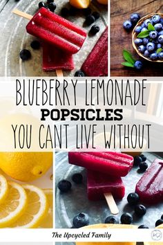 Looking for a healthy snack to cool off with this summer? How about these 10-minute to make (sugar-free) blueberry lemonade popsicles. This recipe is packed full of real fruit goodness skips none of the flavor and all of the sugar! #popsiclerecipe #healthy #forkids#fruit #easy #Diy #lemonade #blueberry #sugarfree #homemade Summer Grilling Recipes, Summer Recipes, Delicious Desserts, Dessert Recipes, Drink Recipes, Yummy Food, Easy Baked Beans, Healthy Lemonade, Frozen Desserts