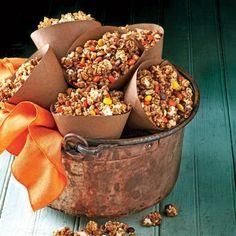October 2015 Recipes: Caramel-Peanut-Popcorn Snack Mix
