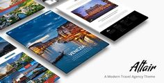 ThemeForest - Altair - Travel Agency WordPress Clean, Modern Design can be used for travel agency and tourism related websites