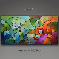 Abstrakter Malerei Gemälde geometrische von SallyTraceFineArt