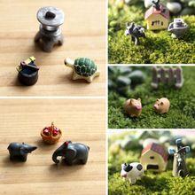 unidsset artes de la resina linda de jardn en miniatura ornamento para