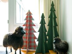 How to MAKE UPHOLSTERED CHRISTMAS TREES. When it comes to Christmas trees, I say the more the merrier. This custom tree adds sophistication to your holiday decor and is super easy to store, too. Homemade Christmas, Simple Christmas, All Things Christmas, Christmas Holidays, Christmas Crafts, Cheap Christmas, Christmas 2017, Beautiful Christmas, Winter Christmas