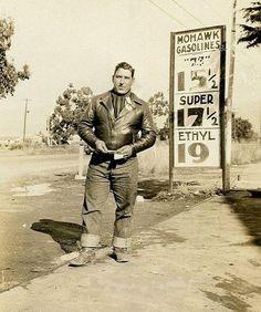 Old School Biker, likely in 1930s