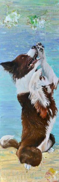 Kunstenaar werkt ook in opdracht. Uw eigen huisdier op doek, stuur een mail naar info@anitaammerlaan.com