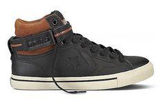 Produkttyp , Sneaker, |Schuhhöhe , Knöchelhoch (high), |Farbe , Schwarz, |Herstellerfarbbezeichnung , Black/Auburn/Natural, |Obermaterial , Leder, |Verschlussart , Schnürung, |Laufsohle , Gummi, | ...