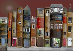 cute use for old books!!