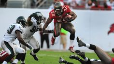 Tampa Bay Buccaneers running back Doug Martin was named as one of the five finalists for the 2012 NFL Pepsi Max Rookie of the Year award.
