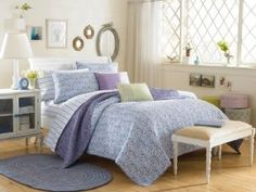 Laura Ashley Marabel Quilt, Blue :           Laura Ashley has brought back her garden party collection featuring traditional floral that will brighten up any room. Use the quilts and decorative pillows in the bedroom, or any room of the house for that designer look.