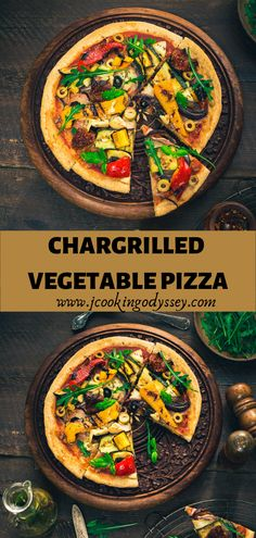 Rustic pizzeria style chargrilled vegetable pizza a perfect treat for the weekend or midweek dinners. Rustic pizzeria style chargrilled vegetable pizza a perfect treat for the weekend or midweek dinners. Vegan Recipes Easy, Indian Food Recipes, Great Recipes, Vegetarian Recipes, Favorite Recipes, Ethnic Recipes, Vegetarian Platter, Brunch Recipes, Dinner Recipes
