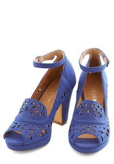 Daiquiri Jamboree Heel in Cobalt by Chelsea Crew from ModCloth. Please & thanks, too cute!