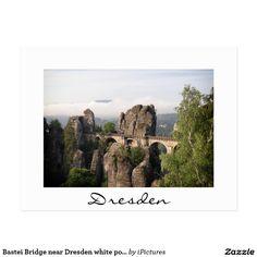 Bastei Bridge near Dresden white postcard