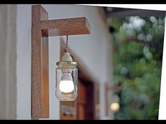 DIY - design - Rustic wall lamp - lampu dinding rustic - YouTube