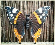 Www.creativeartbyjessica.nl tuinvlinders 50x55cm uit Wervershoof tuin vlinders veranda schutting muur overkapping tuindecoratie
