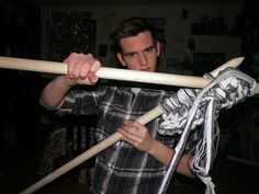 Big results require big ambitions! Will Grimm with his BIG needles - read more about it at KnitHacker.com #knit #knitting