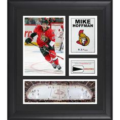 "Mike Hoffman Ottawa Senators Fanatics Authentic Framed 15"" x 17"" Collage with Piece of Game-Used Puck - $79.99"