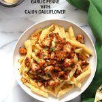 Vegan Garlic Pasta with Roasted Cajun Cauliflower - Vegan RichaBloglovinFacebookGoogle+InstagramPinterestRSSTwitterYouTube
