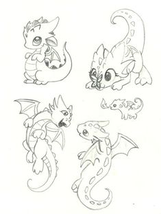 Dragon Tattoo is one of the most popular mystical tattoos. Like most other mythological tattoos, dragon tattoos are perceived in different ways by different cultures around the world. Dragon Sketch, Cute Dragon Drawing, Baby Dragon Drawings, Cute Dragon Tattoo, Baby Dragon Tattoos, Dragon Tattoo Drawing, Cute Dragons, How To Draw Dragons, Drawing Base