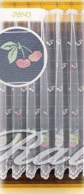 Třešně záclona metrážová výška 160cm šíře 165 cm, zbytek - RALI Decor, s.r.o. - bytový textil, záclony a povlečení