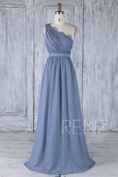 Brautjungfer Kleid Stahl blau Chiffon Brautkleid Spitze