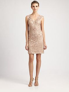 There is one just like this with long sleeves also.  Sue Wong Soutache Embroidery Dress