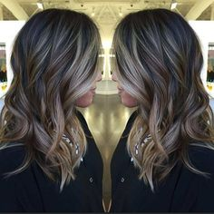 long+black+hair+with+brown+and+blonde+balayage