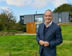 Before and after: The containers were sourced from a supplier in Belfast Docks. Mr Bradley's dream home is featured on tonight's episode of Grand Designs on Channel 4 Grand Designs New Zealand, Grand Designs Uk, Grand Designs Australia, Container Buildings, Container Architecture, Container Houses, Shipping Container Homes, Shipping Containers, Ultra Modern Homes