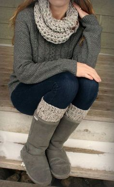 Cozy outfit for fall and winter.