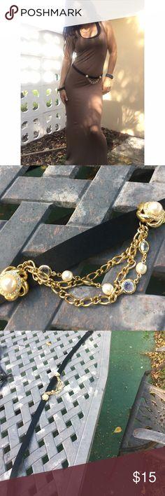 """BELT- 32"""" flat.  Velcro closure. Black silk satin BELT- Cool embellished details Accessories Belts"""
