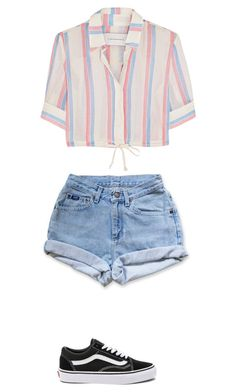 """""""Untitled #135"""" by sarrabaccouch on Polyvore featuring Solid & Striped, Levi's and Vans"""