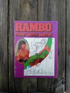Rambo paint with number coloring book Sylvester Stallone