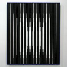 Victor Vasarely: Reminds me of a ribbed sheet of glass with a light shining from behind.