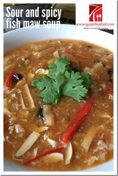 Chinese New Year Recipes: Fuzhou Spicy and Sour Fish Maw Soup (福州酸辣鱼鳔汤) #guaishushu   #Kenneth_goh #fish_maw
