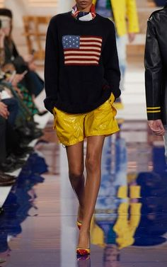 M'O Exclusive Cashmere Sweater with Gaetane Short by Ralph Lauren Spring Summer 2018