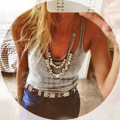 Jewelry and simple tank