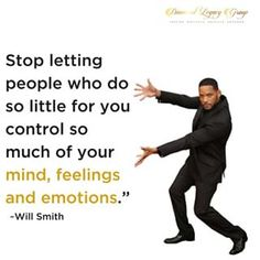 "Stop letting people who do so little for you control so much of your mind, feelings and emotions."" #willsmith. . . . . . . . . . . . . . #Buildyourlegacy #smallbusiness #dreambigger #diamondlegacygp #diamondegacygroup #legacy #savvybusinessowners #blackgirlbloggrs #lawofattraction #workingmomma #beinspired #blackwealth #blackbusiness #businesscouple #buildyourempire #knowyourworth #calledtobecreative #selfdevelopment #selfhelp #selfimprovement #inspiration #wiseword"